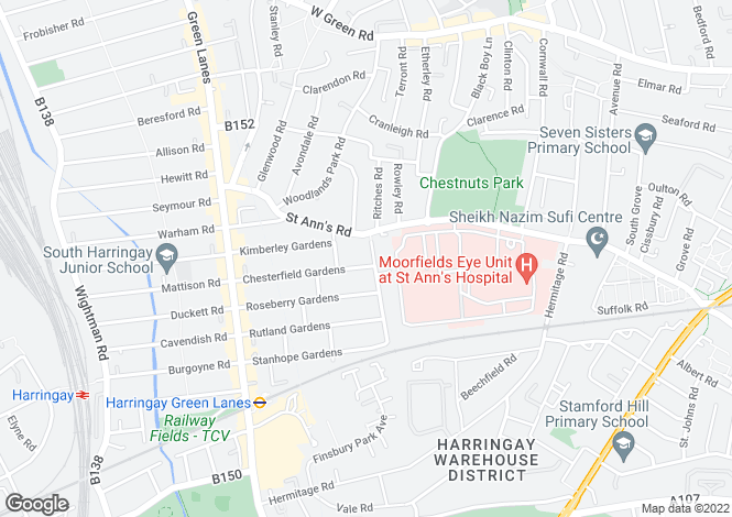 Map for Warwick Gardens,