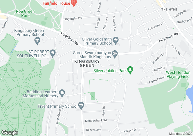 Map for Kingsbury Trading Estate, Church Lane,