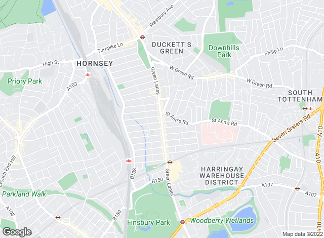Map for Winkworth, Harringay