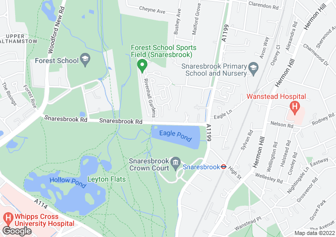 Map for Snaresbrook Road, Wanstead, London, E11 1PQ