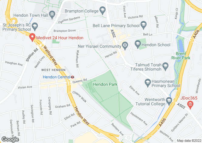 Map for Beatrice Court, Queens Road, London, NW4