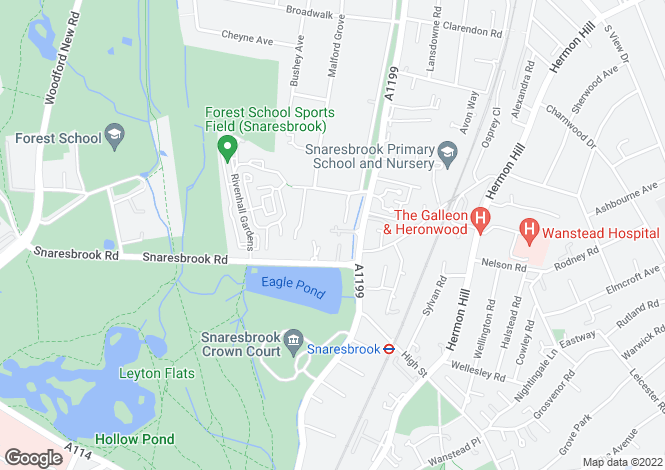 Map for 4 Woodford Road, London