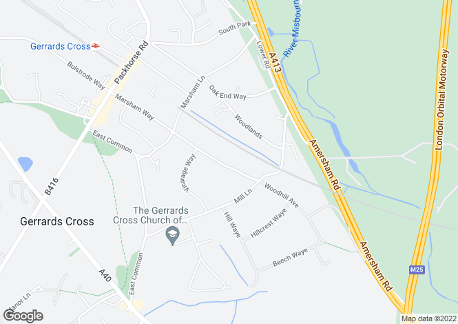 Map for Marsham Way, Gerrards Cross, Bucks, SL9