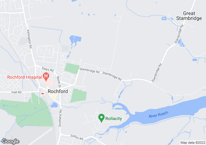 Map for Stambridge Road, Rochford