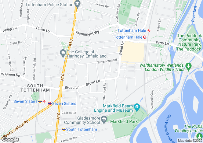Map for Cunningham Road,
