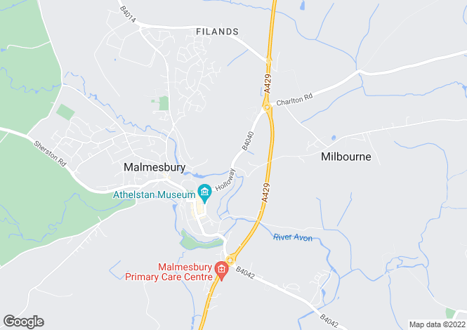 Map for Holloway Hill, Malmesbury, Wiltshire