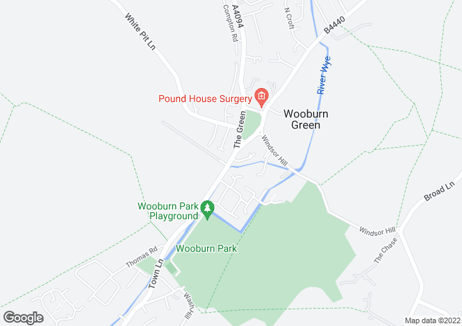 Map for Town Lane, Wooburn Green, Buckinghamshire, HP10