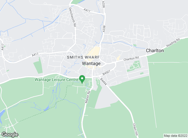 Map for Douglas Gribben Estate Agents, Wantage