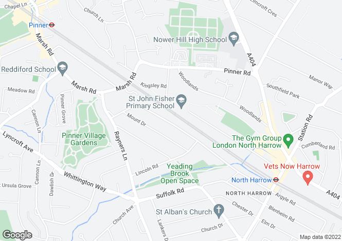 Map for Northumberland Road, North Harrow ,