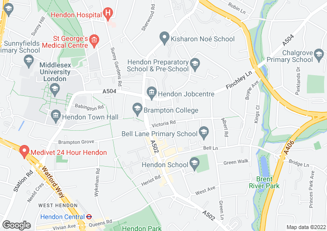 Map for Aprey Gardens, Hendon, Barnet, NW4