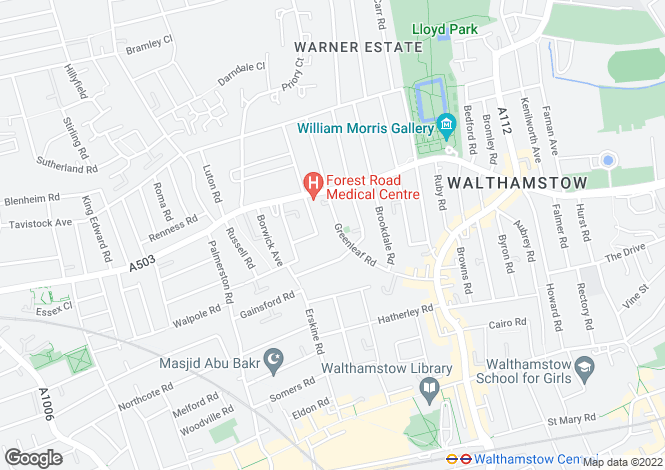 Map for Walthamstow, London
