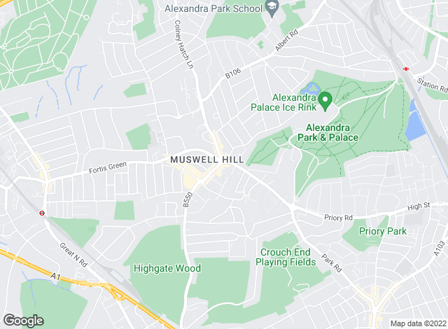 Map for Foxtons, Muswell Hill