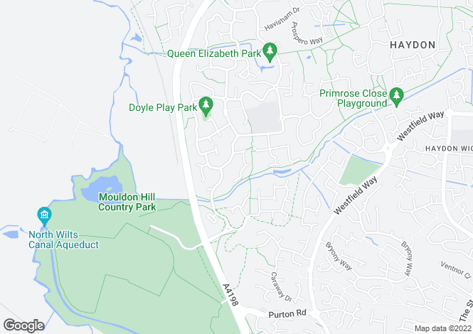 Map for Galloway Road, Taw Hill, Swindon, SN25