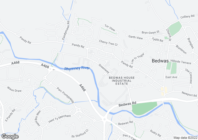 Map for Bedwas House Industrial Estate,