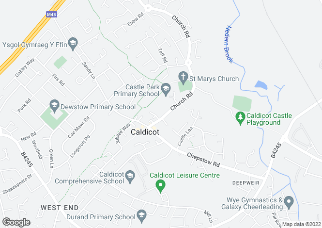 Map for The Fernford at Cwrt Yr Eglwys, Church Road,