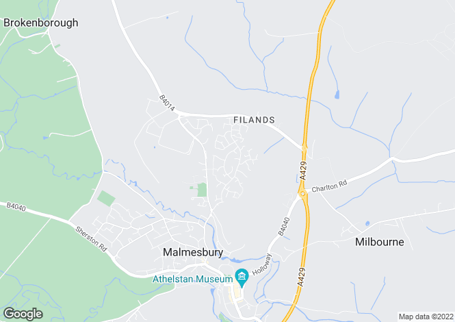 Map for Michael Pyms Road, Malmesbury, Wiltshire