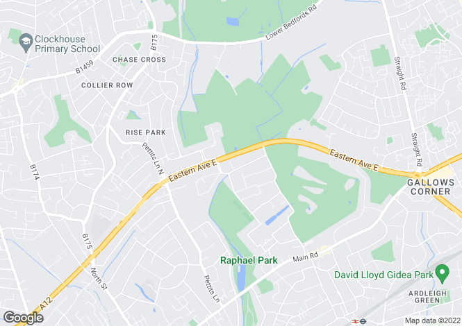 Map for Brook Close, Gidea Park, Romford