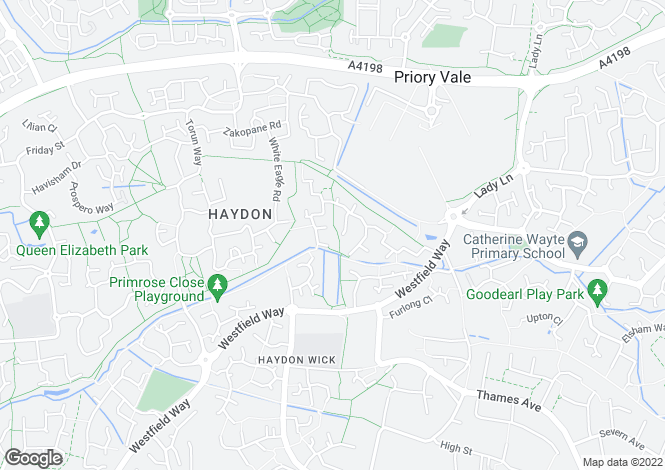 Map for Haydon Wick, Swindon