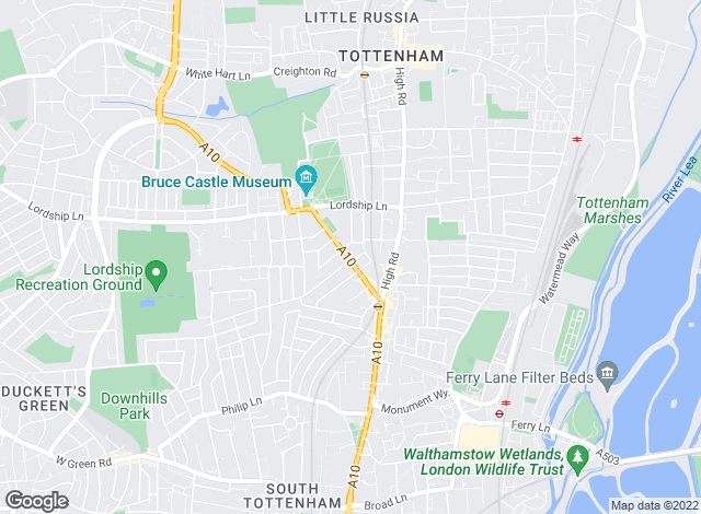 Map for Martin Brookes , Tottenham