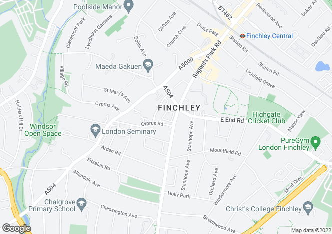 Map for Embassy Lodge, Regents Park Road, Finchley, London, N3 3LB