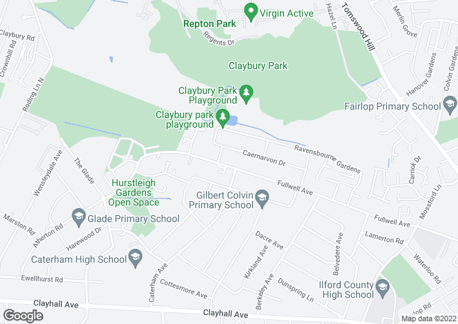 Map for Fulwell Court, Fulwell Avenue, Barkingside, IG5