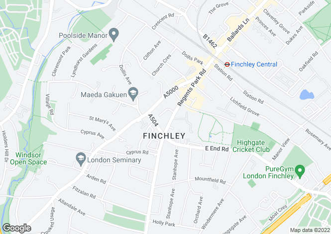 Map for Regency House Regents Park Road, Finchley N3
