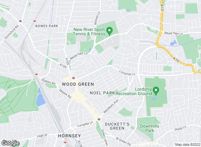Map for LHL Estates, Wood Green