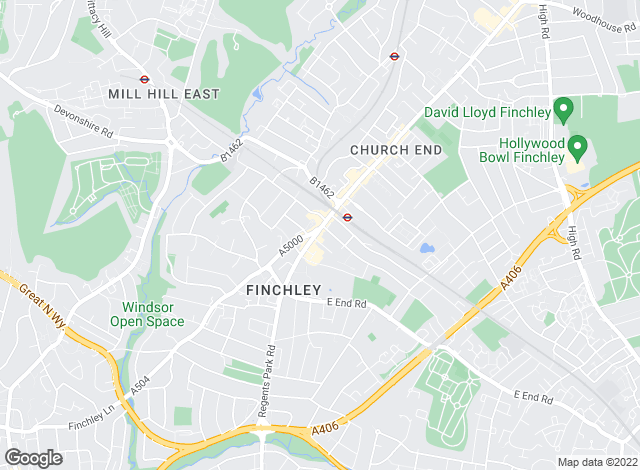 Map for Anscombe & Ringland, Finchley