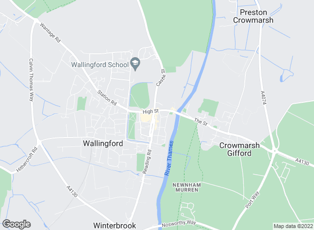 Map for Chancellors, Wallingford