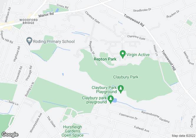 Map for The Manor, Regents Drive, Woodford Green