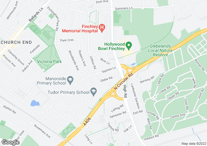 Map for SQUIRES LANE, FINCHLEY, N3
