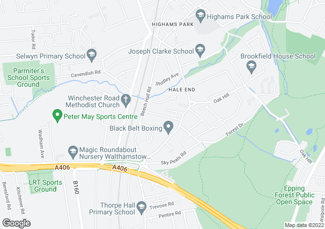 Map for MALVERN AVENUE, HIGHAMS PARK E4