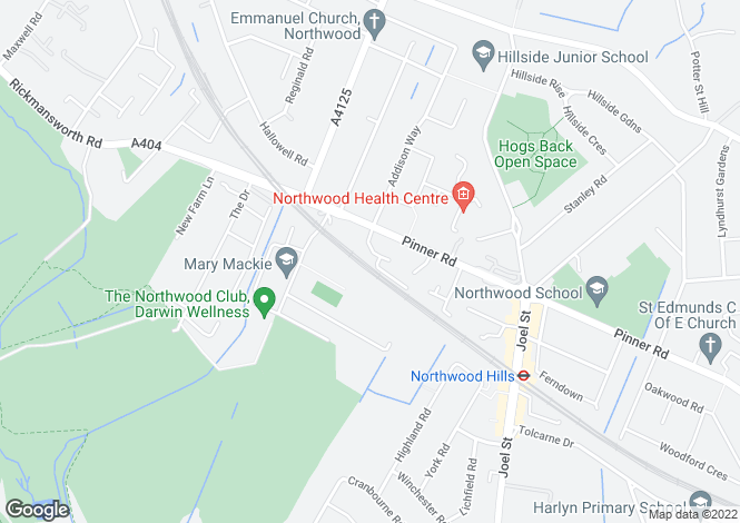 Map for Jasmin Close, Northwood