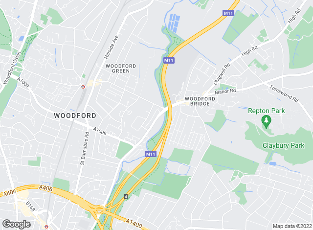 Map for Unique Property Services, Woodford Green