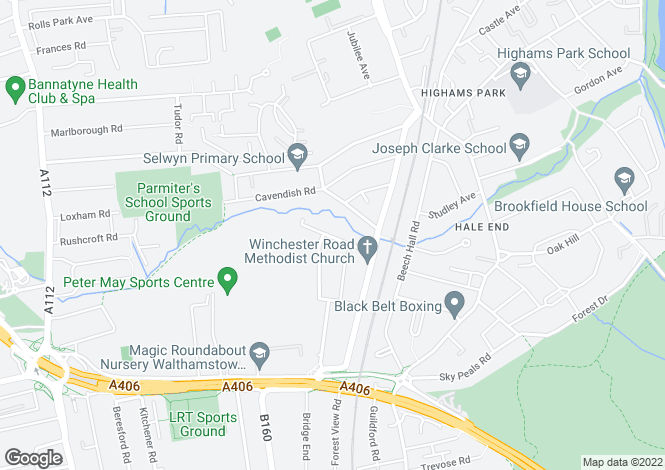 Map for Wickham Road, Highams Park
