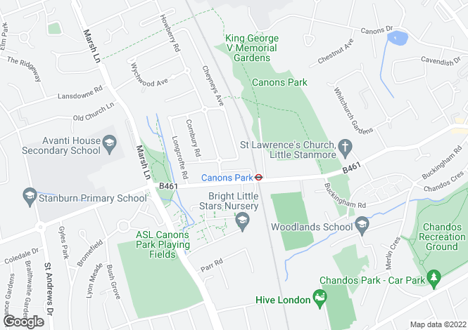 Map for Watersfield Way, Edgware, HA8 6RZ