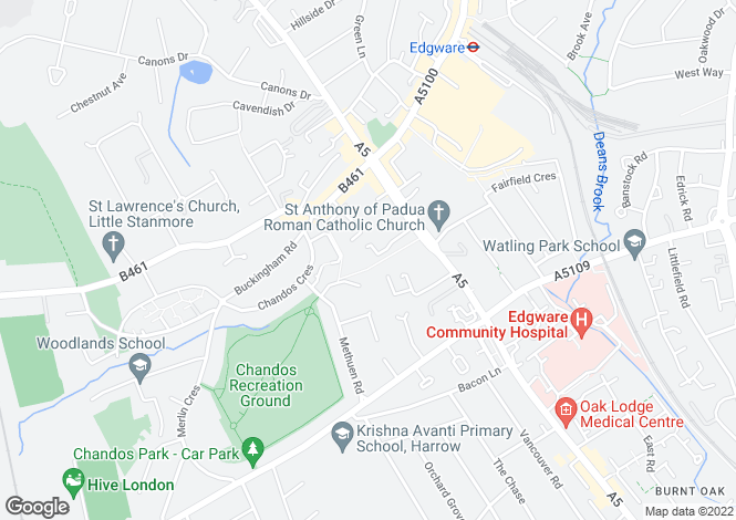 Map for Spring Villa Road,