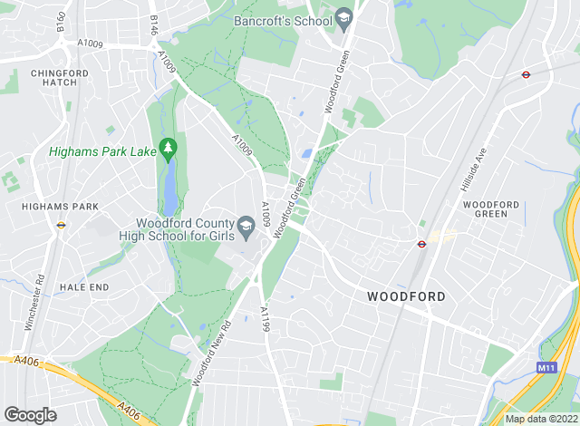 Map for Douglas Allen, Woodford Green
