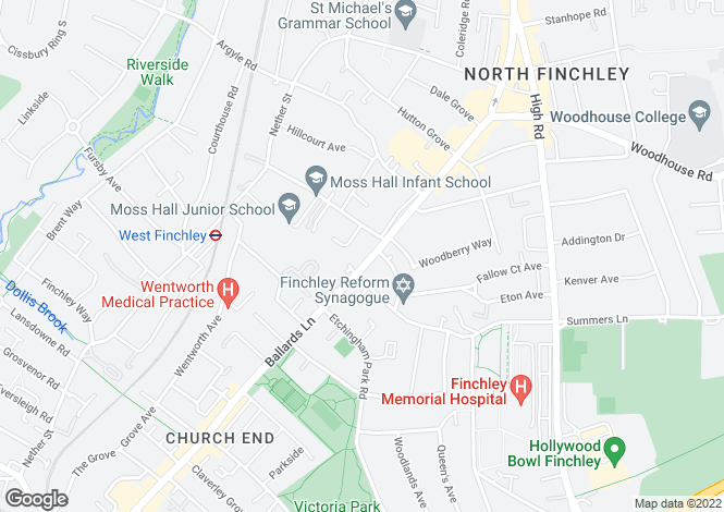 Map for BALLARDS LANE, FINCHLEY, N3