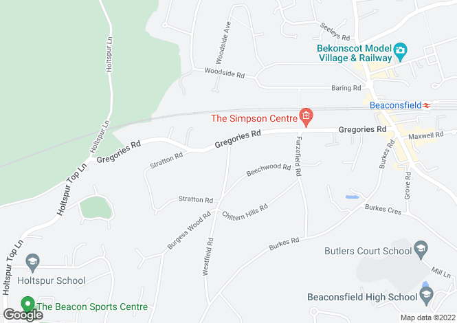 Map for Queen Elizabeth Crescent, Beaconsfield, Buckinghamshire, HP9