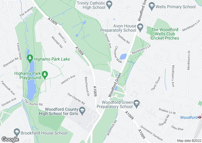 Map for Village Heights, Chingford Lane, Woodford Green, IG8 9QQ