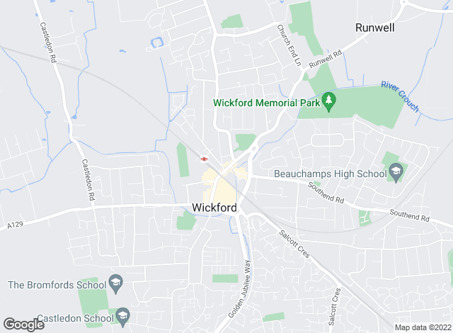 Map for Chris Allnutt & Co, Wickford & Rayleigh