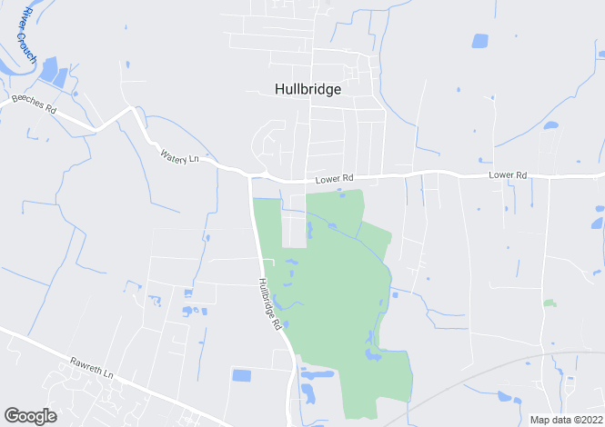Map for Hullbridge, Essex