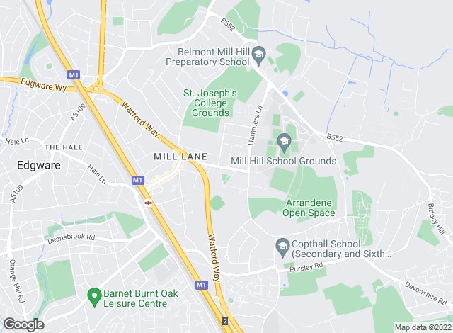 Map for Godfrey And Barr, Mill Hill