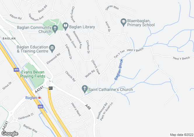Map for 11 Church View, Baglan, Port Talbot, Neath Port Talbot. SA12 8UN