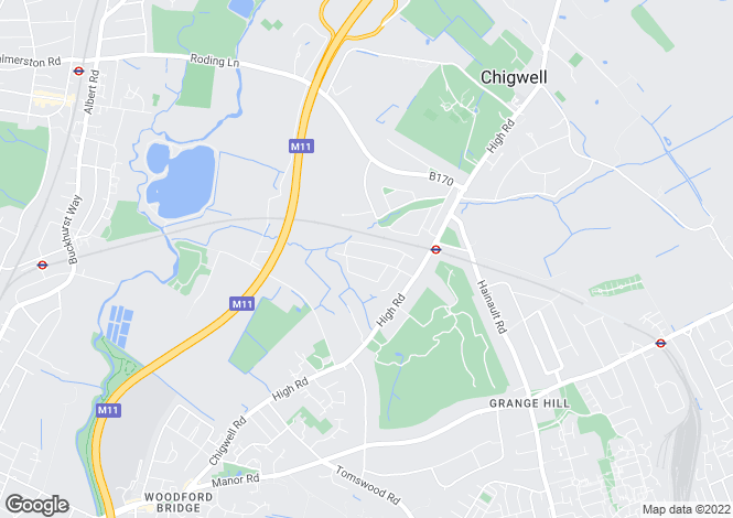 Map for Chigwell Park Drive, Chigwell