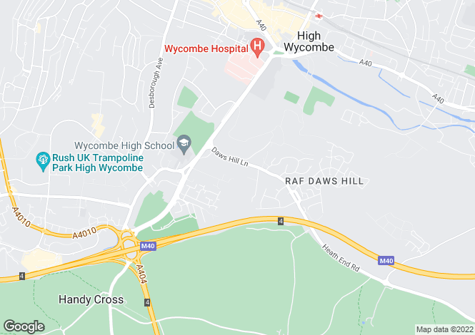 Map for Daws Hill Lane, High Wycombe