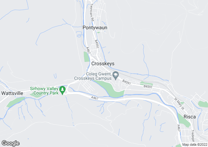 Map for Waunfawr Road, Cross Keys