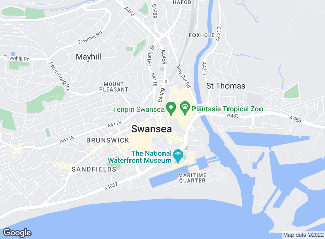 Map for Belvoir, Swansea