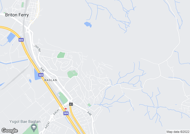 Map for Ascot Drive, Baglan, Port Talbot, West Glamorgan